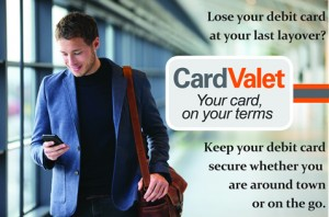 Man walking in airport using CardValet